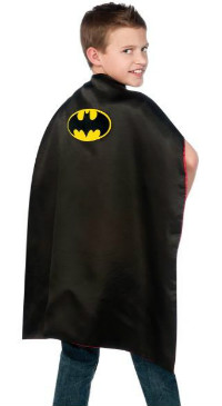 Batman Superman Reversible Cape Child