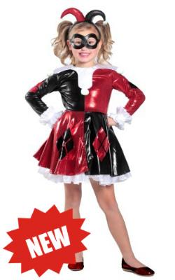 Girls Child Harley Quinn Dress