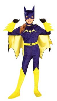 velvet purple Batgirl Child Halloween Costume