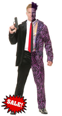Comic Book Two-Face Halloween Costume - Harvey Dent