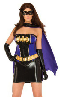 Deluxe Batgirl Corset Costume for Adult Women