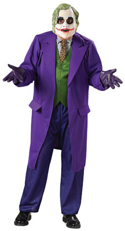 Mens Deluxe Joker Costume Halloween Costume Sale