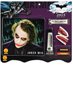 Deluxe Joker Make up Kit and Joker Wig