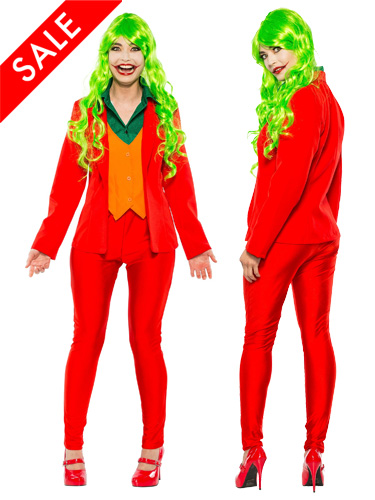 Women's Arthur Fleck Costume Female Joker Suit