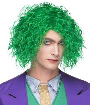 Evil Maniac Green Wig for Adults