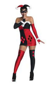Sexy Harley Quinn Dress Costume for Halloween