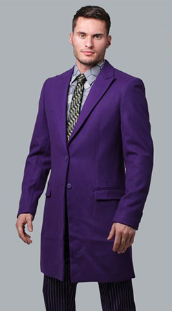 THE JOKER Slim Fit Suit Overcoat Trench