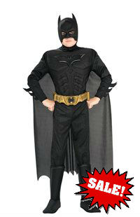 Dark Knight Rises Kid Batman Costume with Muscle Chest