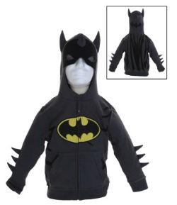 Kids Grey Batman Costume Hoodie
