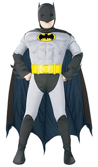 Muscle Chest Batman Costume for Boy