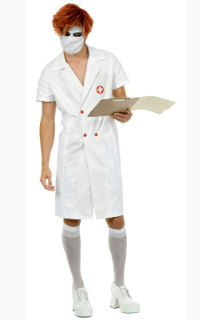Mens Twisted Nurse Costume