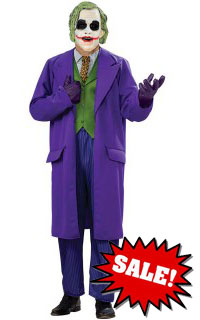 Deluxe Plus Size Joker Halloween Costume Sale