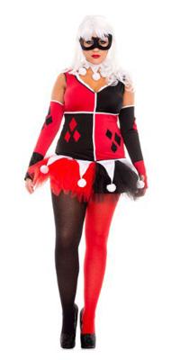 1x 4x Harley Quinn Costume