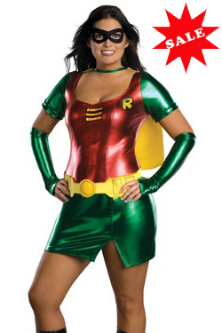 Plus Size Female Robin Costume for Full Figure Women