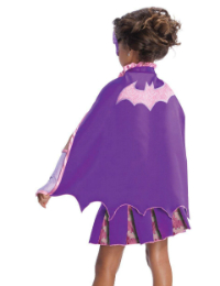 Child Batgirl Cape With Puff Hanger