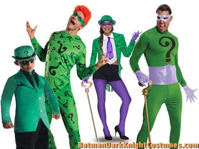Riddler costumes for men and women