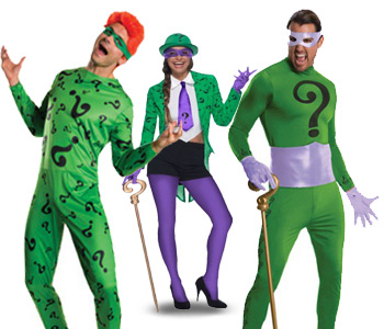 Riddler costumes for men and women