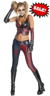 Secret Wishes Arkham City Harley Quinn Costume - Halloween Sale