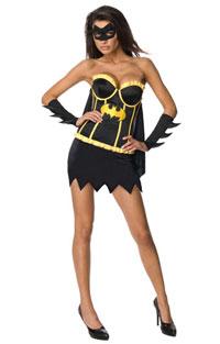 Sexy Adult Batgirl Corset Halloween Costume
