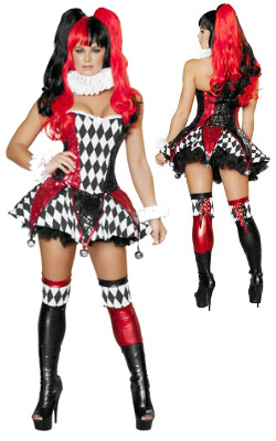 Court Jester Cutie Costume - Sexy Costumes