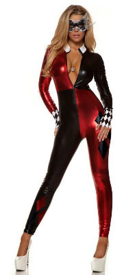 Harlequin Catsuit Harley Quinn