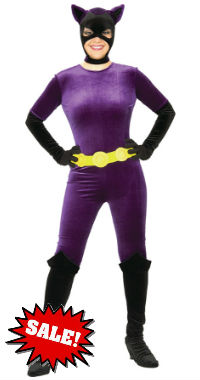 Purple Velvet Catwoman Halloween Costume on sale