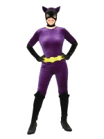Velvet Purple Catwoman Halloween Costume on sale